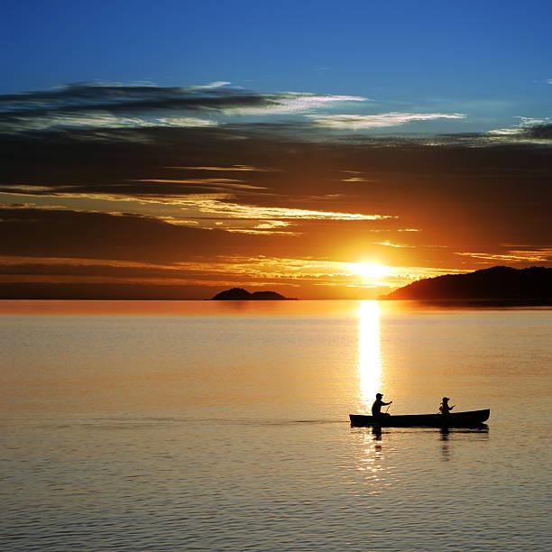XL Canoe Sunset Wall Art