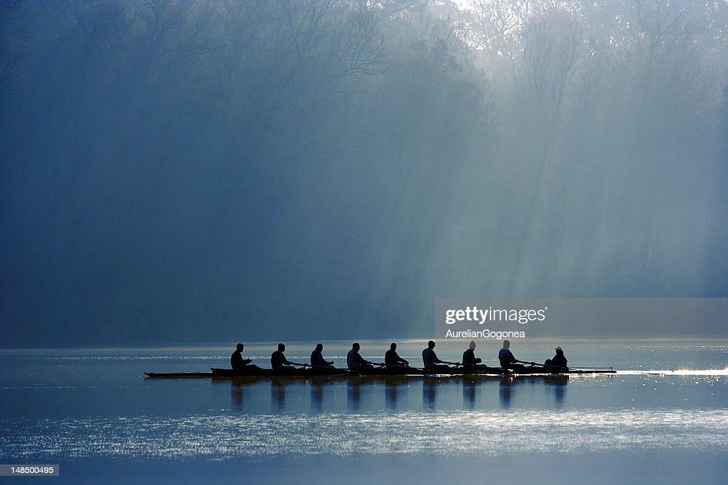 Canoe team : Stock Photo