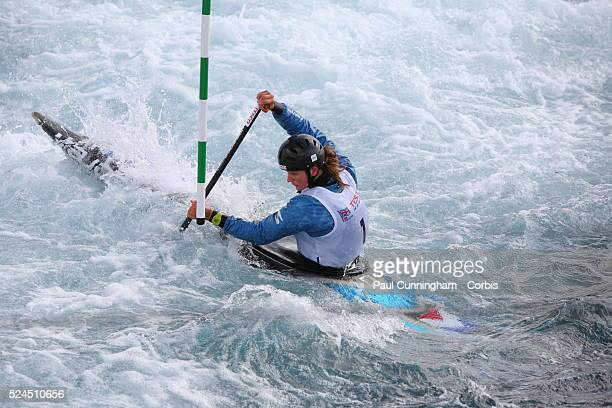 Canoe Tesco Canoe Slalom 2012 including the selection trials for the Great Britian team at the Olympic Games Mallory Franklin takes 2nd place in the...