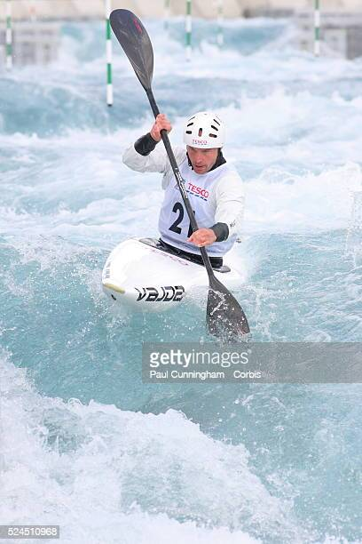 Canoe Tesco Canoe Slalom 2012 including the selection trials for the Great Britian team at the Olympic Games Richard Hounslow competes in the Men's...