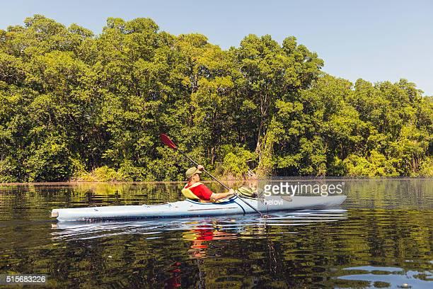 Canoeing in mangrove lagoon