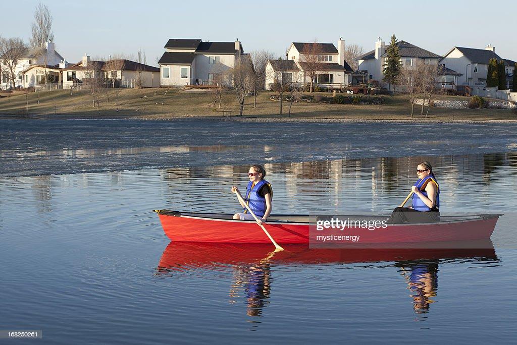 Canoeing in Winnipeg : Stock Photo