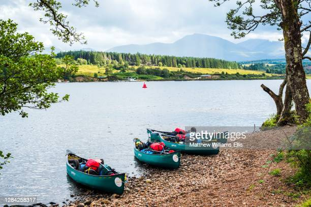 Canoeing Loch Lochy, part of the Caledonian Canal, Fort William, Scottish Highlands, Scotland, United Kingdom, Europe.