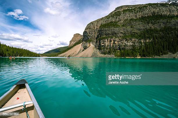 Canoeing on Moraine Lake, Canadian Rockies