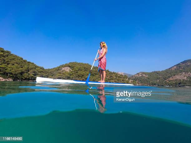 canoeing pleasure. - aegean turkey stock pictures, royalty-free photos & images