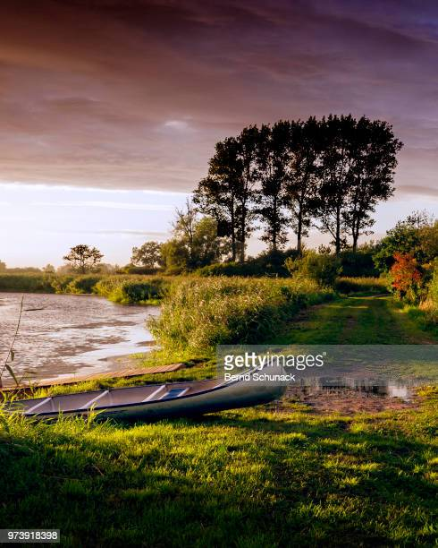 canoeing - rest area - bernd schunack stock photos and pictures