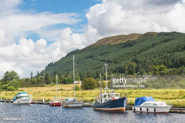 Canoeing the Caledonian Canal, near Fort William, Scottish Highlands, Scotland, United Kingdom, Europe.