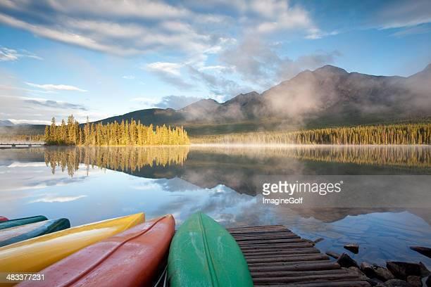 カヌー山の湖