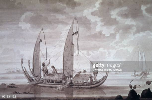Canoes, Tahiti by Sydney Parkinson , by Sydney Parkinson , a Scottish botanical illustrator and natural history artist. He was the first European...
