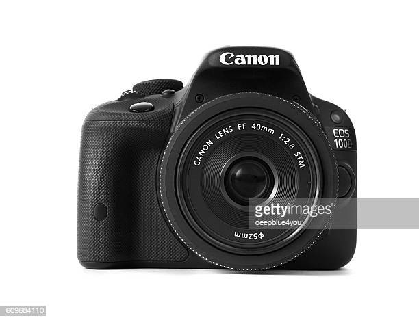 Canon 100d with 40mm pancake lens frontview