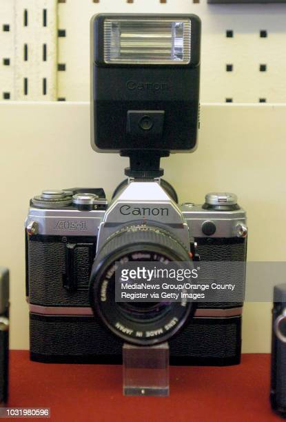 Canon AE1 is part of a timeline of old cameras at Tuttle Camera in Long Beach Calif on May 18 2006