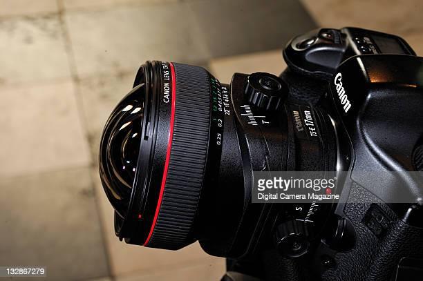 Canon TSE 24mm f/35L tilt shift lens fitted on a Canon EOS 5D camera Durham September 3 2010