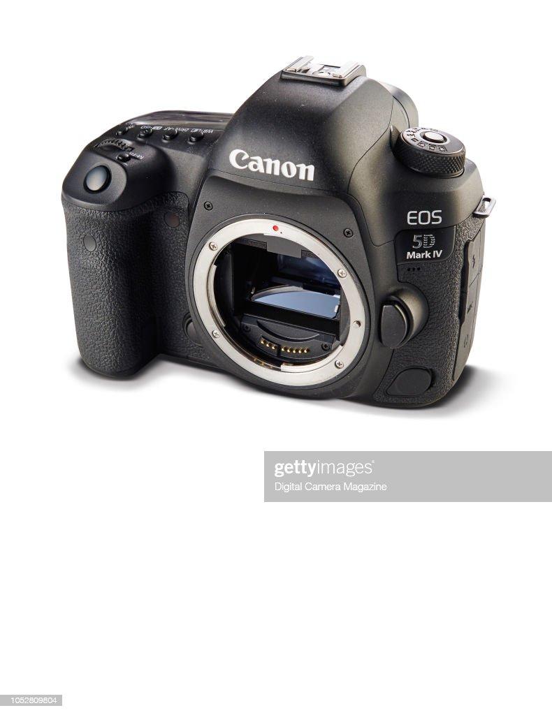 A Canon EOS 5D Mark IV digital SLR camera, taken on April 18, 2017 ...