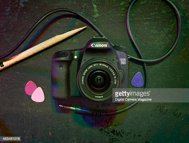 A Canon EOS 70D digital SLR camera with an 1855mm lens photographed on a nightclub stage for a feature on the best kit for nighttime photography on...