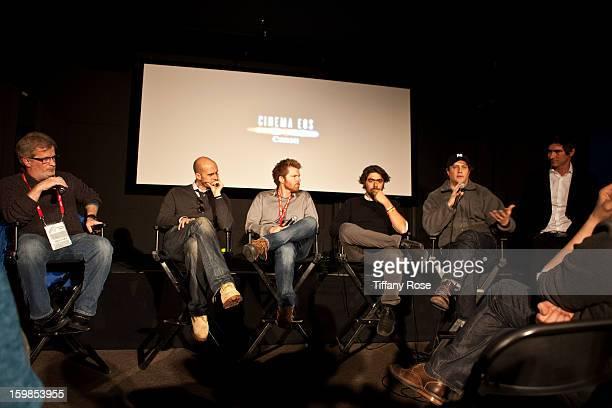 Canon Film and Television Advisor Tim Smith Director Edoardo Ponti Cinematagraphers Alex Buonu Andre Lascaris Rich Landes and Peter Simonite attend...