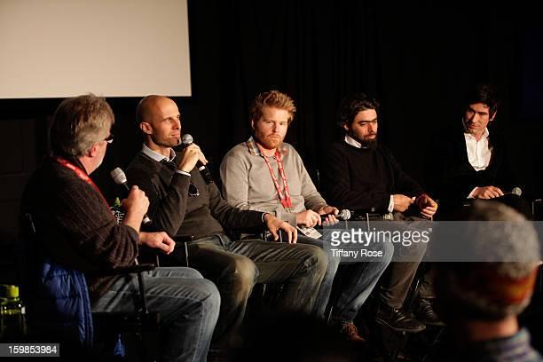 Canon Film and Television Advisor Tim Smith Director Edoardo Ponti Cinematagraphers Alex Buonu Andre Lascaris and Peter Simonite attend the Canon...