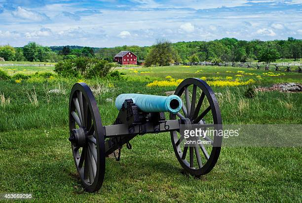 Canon on battlefield at Gettysburg National Military Park.