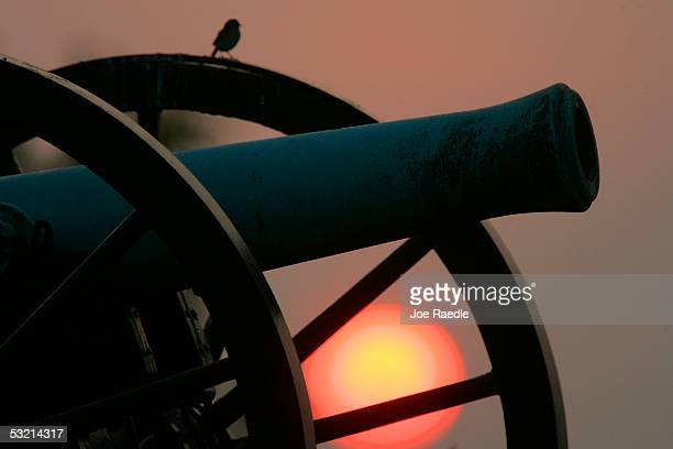 A canon sits in a cornfield at the Antietam battlefield July 4 2005 where General Robert E Lee ended his first invasion of the North in September...