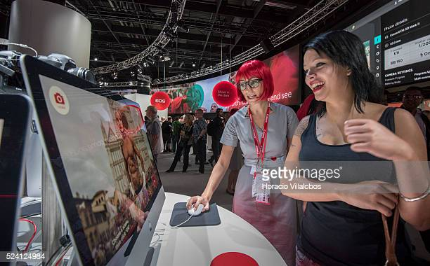 Canon stand in Photokina 2014 in Cologne Germany 18 September 2014 Photokina the world's leading imaging fair brings together the industry trade...