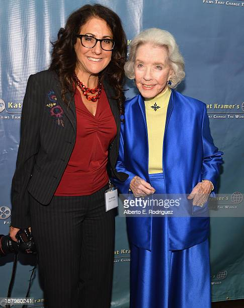 Canon USA's Amy Kawadler and actress Marsha Hunt attend the 5th anniversary of Kat Kramer's Films That Changed The World featuring the North American...
