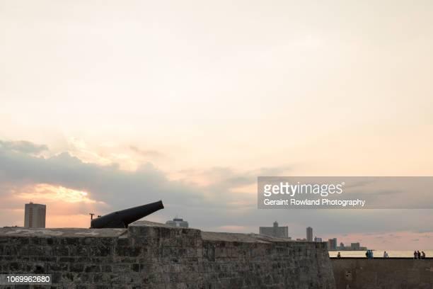 Canons at Sunset, Havana, Cuba