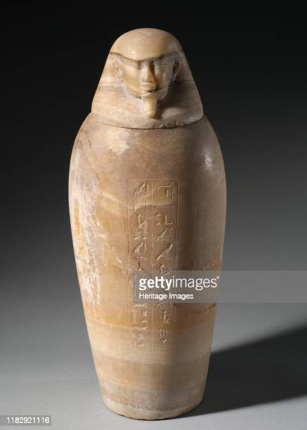 Canopic Jar with Man's Head 664525 BC In the process of mummification the liver lungs stomach and intestines were removed separately embalmed and...