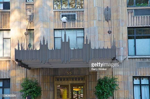 canopy, 55 central park west, built in 1929, art deco landmark apartment building, new york, ny, u.s.a. - 1920 1929 stock pictures, royalty-free photos & images