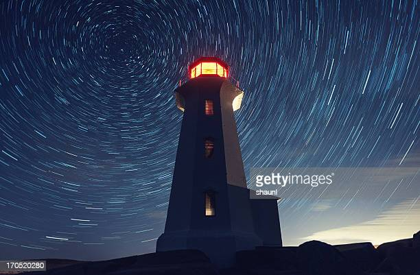 canopy of stars - lighthouse stock pictures, royalty-free photos & images