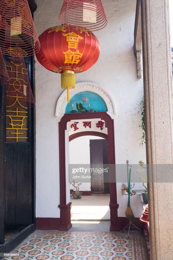Canotnese Assembly Hall, Hoi An Vietnam : Stock Photo