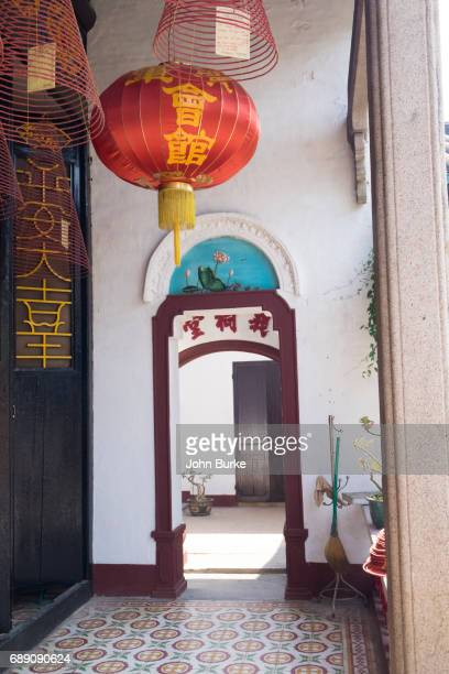canotnese assembly hall, hoi an vietnam - incense coils stock pictures, royalty-free photos & images