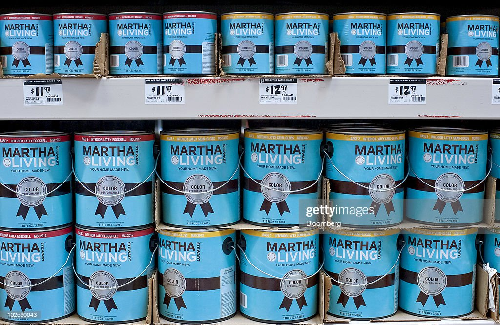 Cans Of Martha Stewart Living Paint Sit On Display In A Home Depot Store In  Atlanta