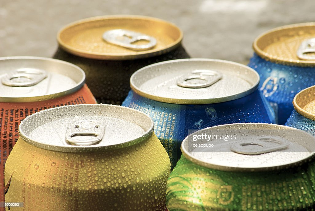 Cans of soft drink : Stock Photo