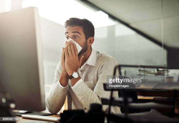 i can't afford to get sick now - handkerchief stock photos and pictures
