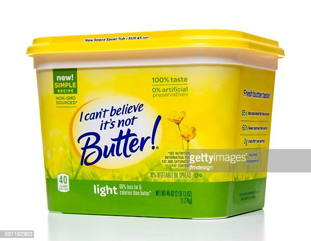 i can't believe it's not butter light yellow jar - margarine stock pictures, royalty-free photos & images