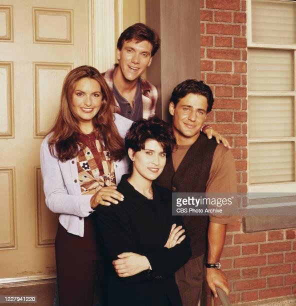 "Can't Hurry Love,"" a CBS sit-com featuring : Mariska Hargitay, Kevin Crowley, Nancy McKeon and Louis Mandylor, 1995."