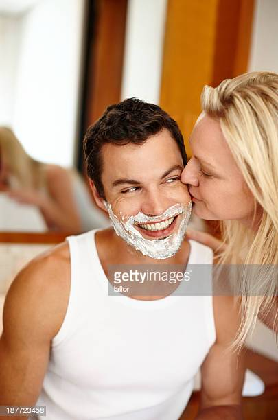 i can't keep my hands off of him - couple and kiss and bathroom stock photos and pictures