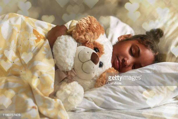 i can't sleep without my teddy - bedtime stock pictures, royalty-free photos & images