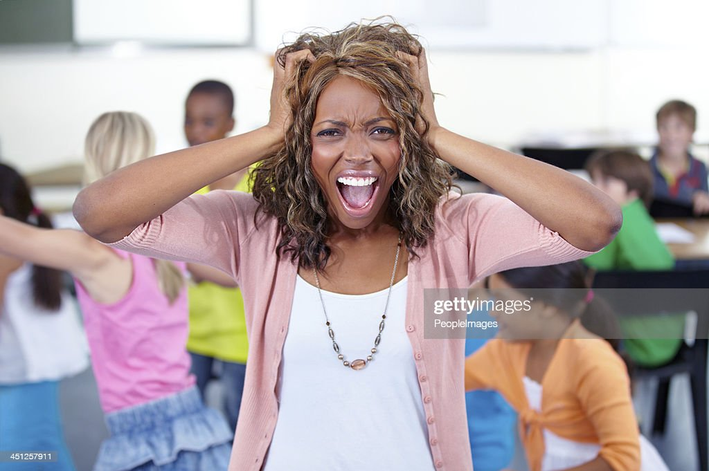 I can't take it anymore! : Stock Photo