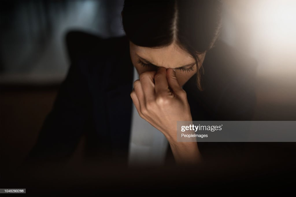 I can't take these late nights anymore : Stock Photo