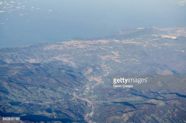 Cantabria from a plane