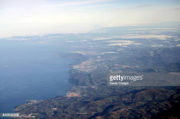 Cantabria seen from a plane