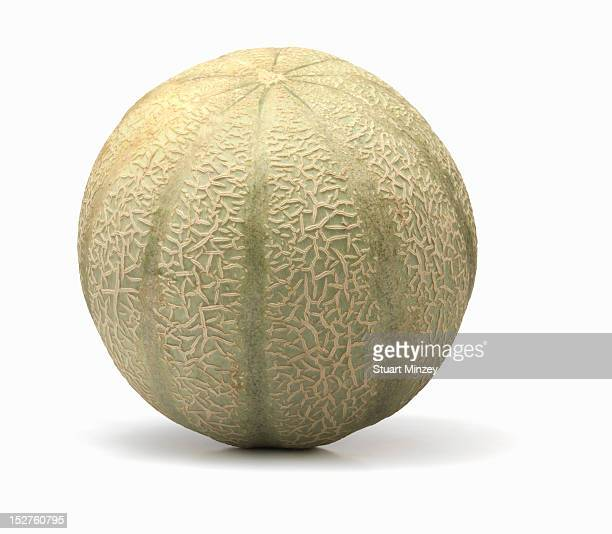 Cantaloupe on white background