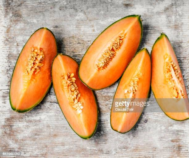 cantaloupe - muskmelon stock pictures, royalty-free photos & images
