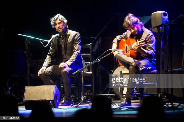 Cantaor Arcangel and Chicuelo perform on stage during Requiem for Enrique Morente al Sala Barts on December 13 2017 in Barcelona Spain