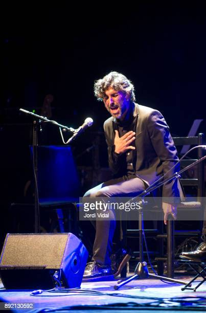 Cantaor Arcangel performs on stage during Requiem for Enrique Morente al Sala Barts on December 13 2017 in Barcelona Spain