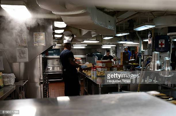Canteen of USS Blue Ridge during a visit to India for a regularly scheduled port visit to promote friendships and strengthen ties on April 4 2016 in...