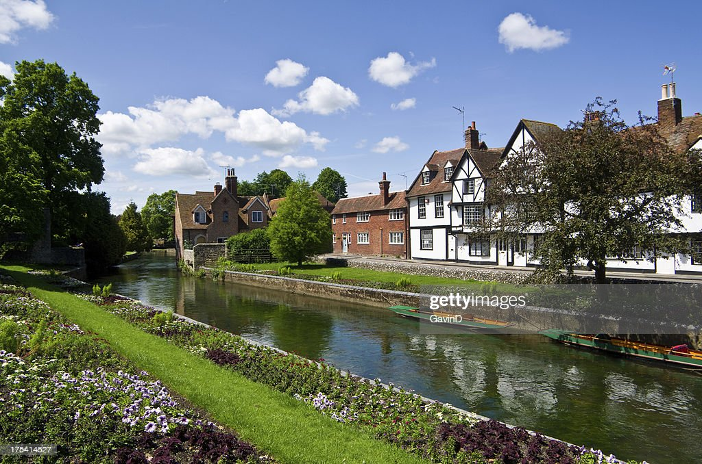 Canterbury and the River Stour : Stock Photo