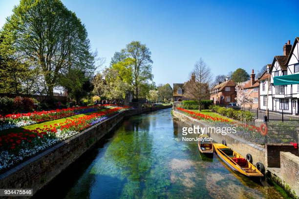 canterbury canal - march month stock pictures, royalty-free photos & images