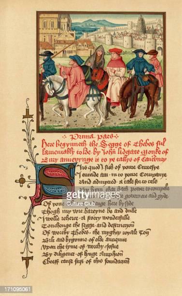 Canterbury pilgrims portrait illuminated manuscript Geoffrey Chaucer
