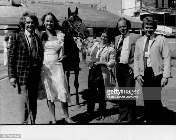 Bradfield HandicapOwners of Balle Pouliche left to right Ross Daisley Wife Marietta Garvey Woodhouse and Peter Daisley Strapper Jenny Davies December...